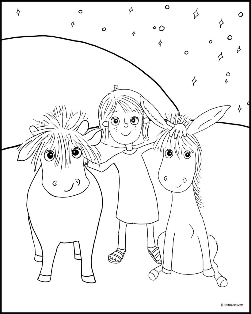 have you seen my lamb coloring pages - cover